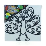 PaintaDoodle 12 x 12 Peacock Painting Kit