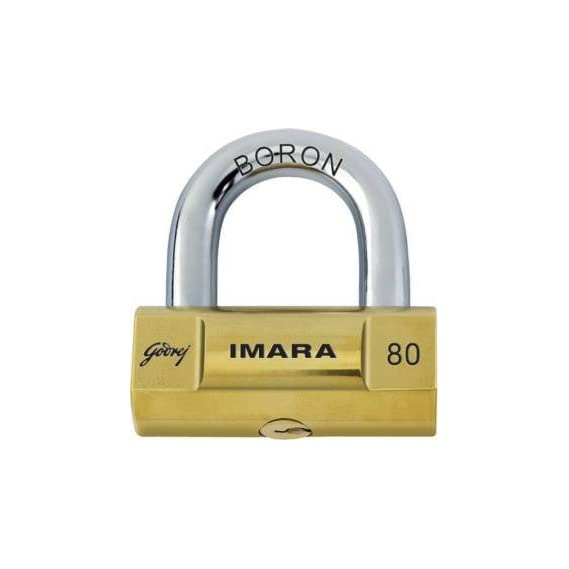 Godrej Imara 6248 Brass Padlock Set (Brass, 4-Pieces)