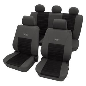 Preisvergleich Produktbild Eco Class Activ Sports schwarz 11tlg. Lederlook Sitzbezug Schonbezüge Schonbezug Autoschonbezug