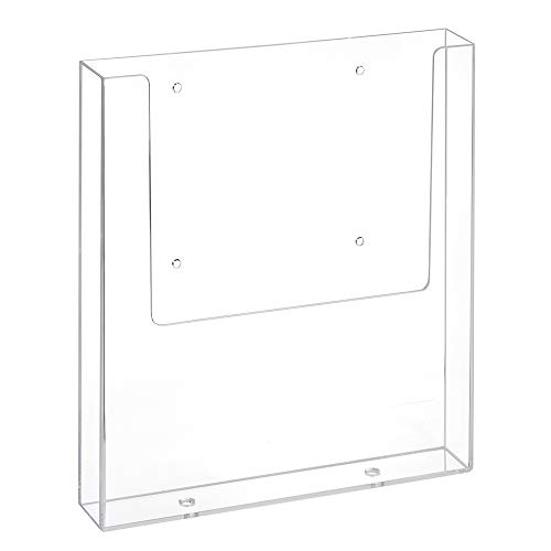 DIN A4 Wandprospekthalter mit Bohrlöchern/Prospekthalter/Flyerhalter/Wandmontage/Transparent - Zeigis®