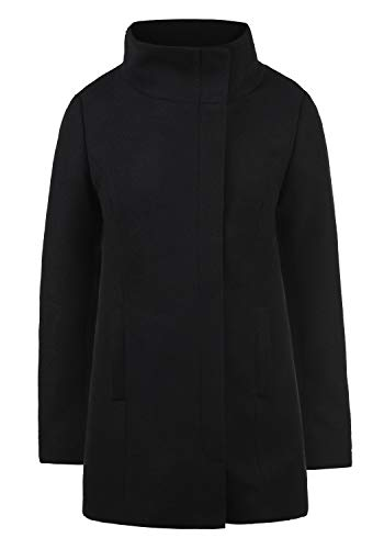 Desires Wolke Abrigo Chaqueta De Lana Chaquetón Clásica para Mujer con Cuello Alto, tamaño:M, Color:Black (9000)