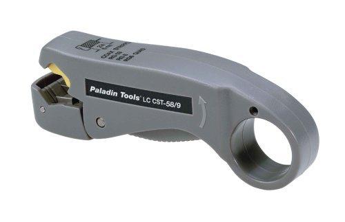 Paladin 1257 LC CST 2-Level Coax Stripper, RG59/RG6/RG6-Quad by Paladin Tools