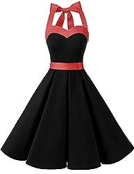 Dieses stilvolle Kleid aus leichter Baumwolle oder Satin ist durch das mit Gummizügen versetzte Rückenteilund der raffinierten Schnürung flexibel dehnbar und daher ideal passend für mehrere Konfektionsgrößen. Der weite Tellerrock ist mit und ohne P...