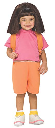 Rubie s Costume Co 33183 Dora The Explorer Dora Per-cke Kind Gr-e - Dora Explorer Kostüm