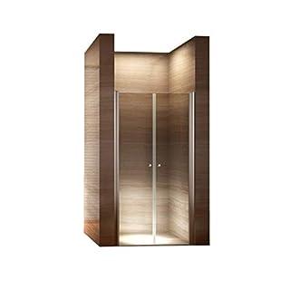 i-flair 75cm - Verstellbereich von 72-76cm, Höhe: 195 cm, Duschabtrennung, Duschtür aus 6mm Sicherheitsglas mit Nanobeschichtung