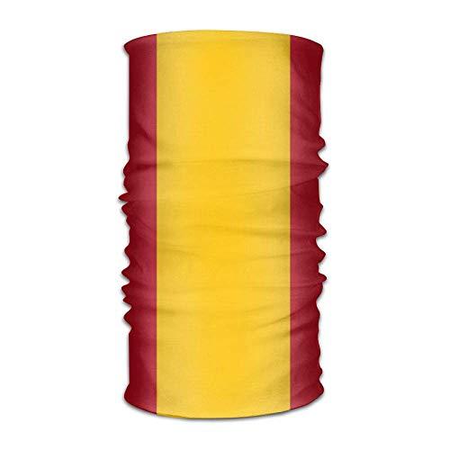 Cotton Striped Headwrap (Flag of Spain Striped Headwrap Unisex Headwear Headband Neck Scarf Multifunction Hairband Magic Head Scarf Bandana Retro Headdress Face Mask Neck Gaiter)