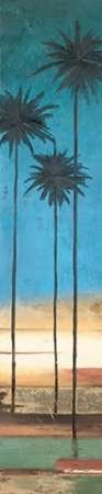 Feeling at home, Stampa artistica x cornice - quadro, fine art print, Thin Palms III (In Colori Costiere) cm 198x41