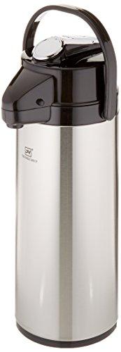 Displays2go Edelstahl drehbaren Boden gefüttert Kaffee Air Topf mit Hebel Pumpe Deckel, 6von 18-1/2von 6 -