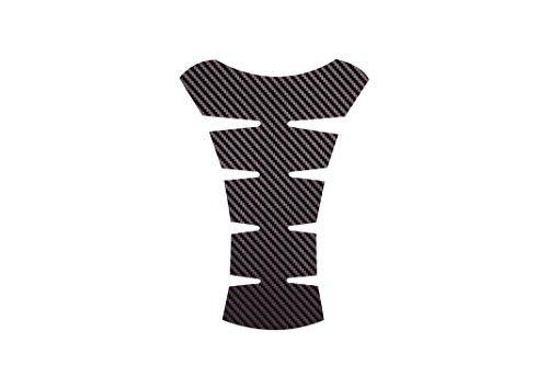 Seitronic® Motorrad Tankpad 3, 3D Carbon Folie schwarz, Tankaufkleber