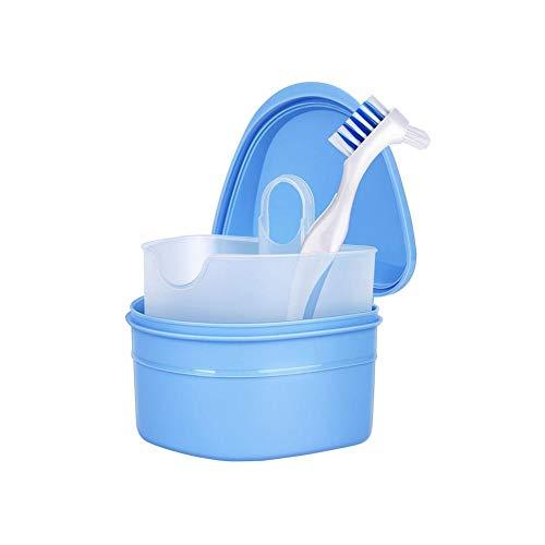 Prothesenbürste Mit Prothesenkasten Reinigung Aufbewahrung Zahnkorrektor Reinigung Mundpflege Für Sichere Schutzprothesen