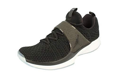 NIKE Air Jordan Trainer 2 Flyknit Mens Basketball Trainers 921210 Sneakers Shoes (UK 8.5 US 9.5 EU 43, Black White 010)