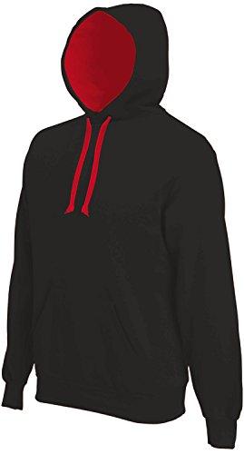 Kariban -  Maglione  - Basic - Maniche lunghe  - Uomo Nero-rosso