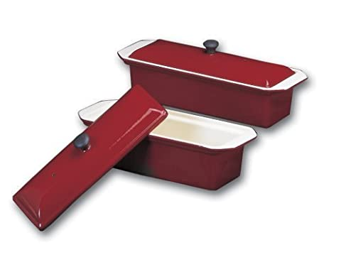 Chasseur large red enamel cast-iron pate terrine mold by World Cuisine