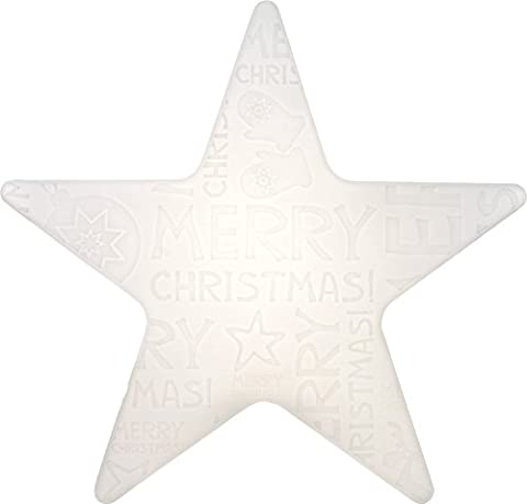 8 seasons design | LED Dekoleuchte Weihnachten Stern Shining Star 'Merry Christmas' (Ø 60 cm, Farbwechsel, dimmbar, für Haus & Garten) weiß