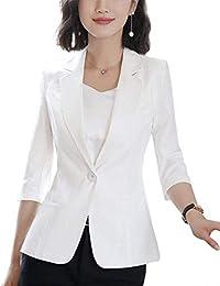 Betrothales Mujer Primavera Oeste Fashion Formal Fit Blazer Slim Classic  Unicolor Americana Otoño Mangas 3  b437aef85c1f