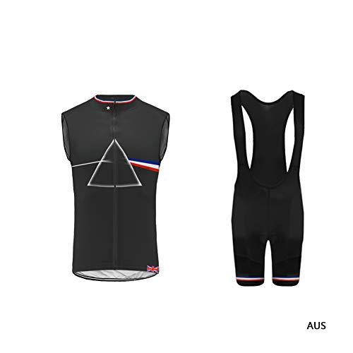 Uglyfrog Nation Flagge Radtrikot mit Ärmellos Top und 3D Pad Trägerhose Cycling Vest Set Deutschland Frankreich Italien Spanien HDE2019VJT02