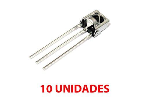 10 Stück IR Universal Infrarot-Empfänger Kopf mit Eisen Shell TL1838 VS1838B 1838 38KHz -