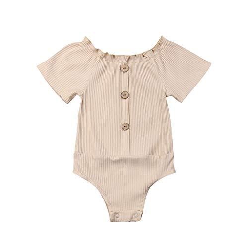 Overall Baby Sommer Infant Solid Ruched Romper Sunsuit Bodysuit Freizeitkleidung (Beige Gefängnis Kostüm)