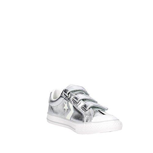 Converse 656844C Petite Sneakers Femme Argent