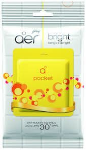 Godrej Aer Pocket Bathroom Fragrance - 10g Bright Tangy Delight Pack Of 3pc [Buy3 Set (9 pc) get 1pc Wroth Rs55/-Free]