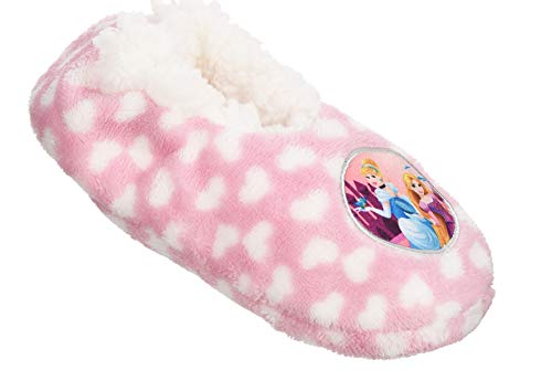 Disney Prinzessinen Plüsch Hausschuhe mit Antirutschnoppen Rosa 27/28 (Disney Jasmine Schuhe)