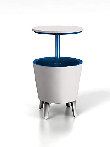Keter M293218 - Mesa nevera cool bar cream and blue