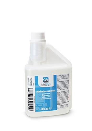 Flüssig-Reiniger für Milchaufschäumer von SolidWork | Milchschaum-Reiniger für Kaffeevollautomat und Kaffeemaschine oder Sahnespender | Unser Milchsystemreiniger säubert Ihr Gerät zuverlässig!