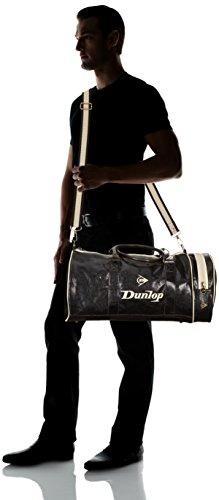 Dunlop - Borsa a tracolla 20177 Unisex - adulto Nero (Schwarz (black/beige))