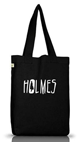 Shirtstreet24, Holmes, Jutebeutel Stoff Tasche Earth Positivo (taglia Unica) Nero
