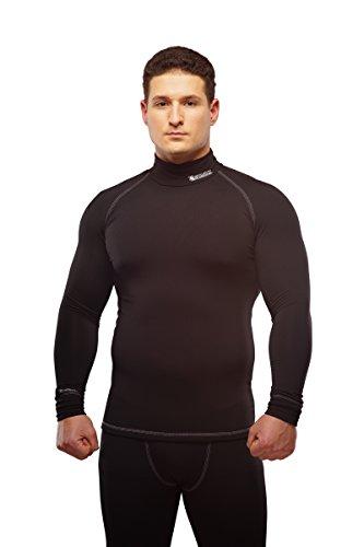 STARKS Thermounterwäsche Herren Sport Kompressionsshirt langarm, Schwarz, Gr. L (Dri-fit-unterwäsche)