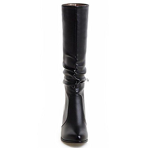 RAZAMAZA Femme genou bottes Talons Moyens Casual Black