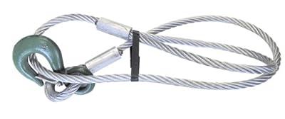 Kerbl Drahtseil mit Schlaufe und Lasthaken, 12mm/1,5m, 1250 kg