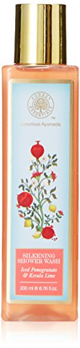 Forest Essentials Silkening Shower Wash, Iced Pomegranate with Fresh Kerala Lime, 200ml