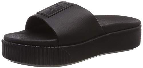 Puma platform slide wns, scarpe da spiaggia e piscina donna, nero black, 40.5 eu