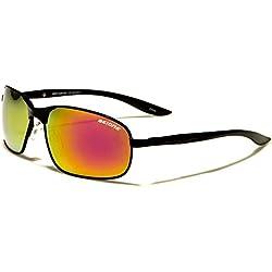 BeOne POLARISIERT Spiegel-Objektiv Aviator Stil Sonnenbrille der Frauen der Männer Medium Size (schwarzen Rahmen Spiegel Iridium)