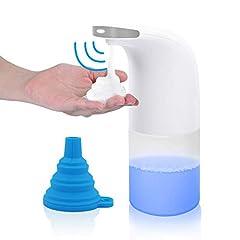 Idea Regalo - AidSci Automatico Dispenser di Sapone Schiumogeno, Dispenser per Sapone Sensore 350ml, Dispenser per Sapone Elettrico Touchless per Cucina, Servizi Igienici e Bagno