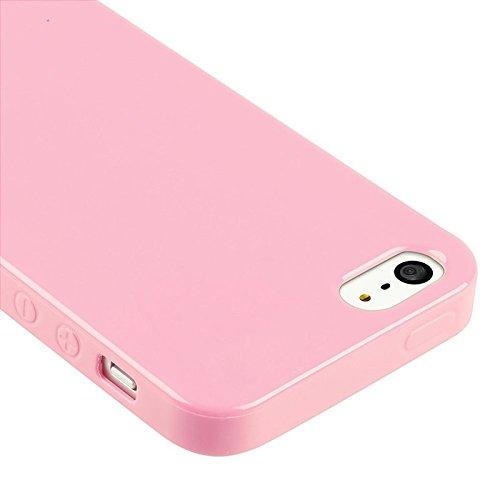 ChannelExpert Mint Grün TPU Silikon Gel Schutz Hülle TASCHE COVER CASE Etui für Apple iPhone 5 Hell Pink Jelly