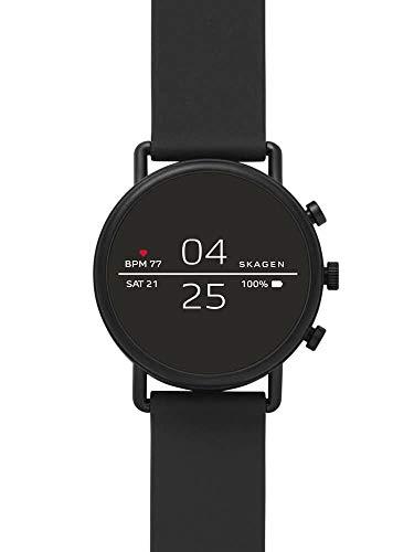 Skagen Herren-Smartwatch mit Silikon Armband SKT5100