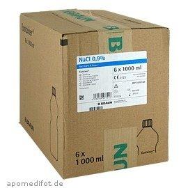 Kochsalzlösung 0,9% B.Braun Spüllsg.Ecotainer, 6X1000 ml -