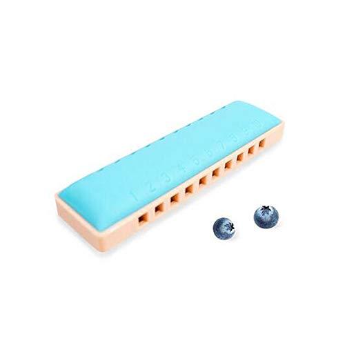 Aishanghuayi-ou Kinder-Mundharmonika-Instrument, C-Ton-Blues-10-Loch-Mundharmonika, Anfänger-Klavier, Kindermusik, Spielzeug, Bonbonfarbe Schön (Color : Blue)