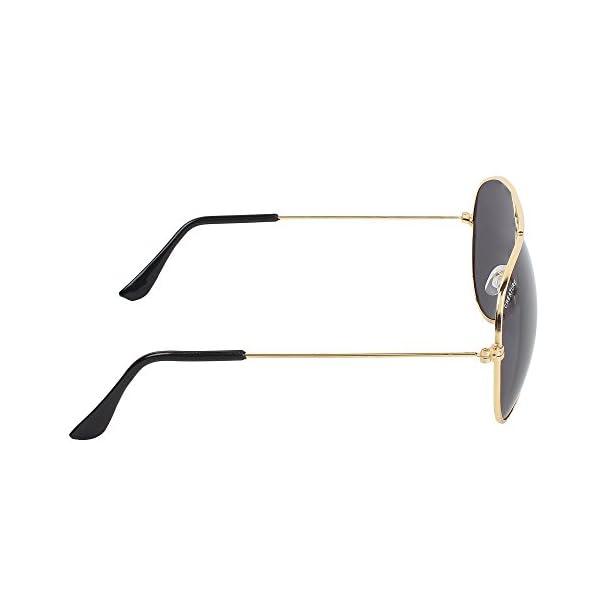 Creature Black Aviator Uv Protected Unisex Sunglasses (Lens-Black  Frame-Golden  SUN-005)