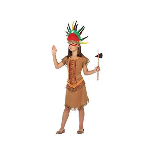 ATOSA 56950 Indianerin Kostüm für Mädchen Costume Indian Woman 10-12, Braun, 10 a 12 años