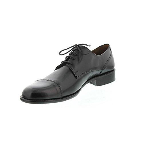 Manz Schuhe Herren Halbschuhe Schnürschuhe Weite G Kay 142090-02 Schwarz