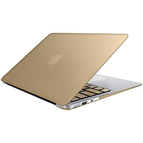 SlickBlue metálico Shell duro de Clip Snap-on Case + Coincidencia de Piel Estilo teclado Europea para MacBook Air 13 pulgadas (Modelo: A1369 y A1466) - El Metálico