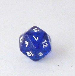 Weible Spiele Schulwürfel - Ikosaeder Transparent, blau 2 Stück