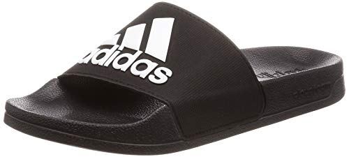 Adidas Adilette Shower, Jungen Dusch- & Badeschuhe, Schwarz (Negbás/Ftwbla/Negbás 000), 38 EU (5 UK) -