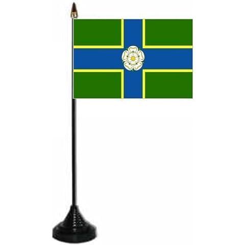 Norte de Yorkshire luvponies escritorio/mesa de la bandera de soporte de plástico y la base.