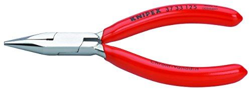 KNIPEX 37 33 125 Greifzange für Feinmechanik verchromt mit Kunststoff überzogen 125 mm