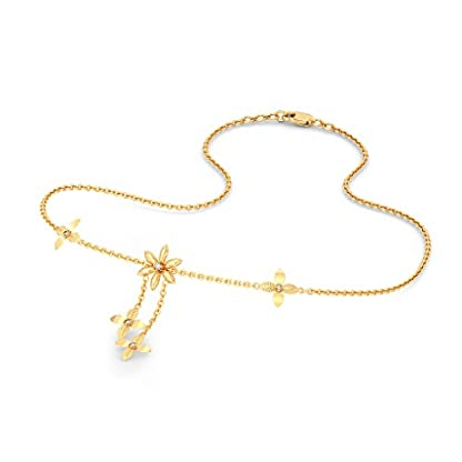 BlueStone 18k (750) Yellow Gold and Diamond Dutiful Flora Chain Necklace