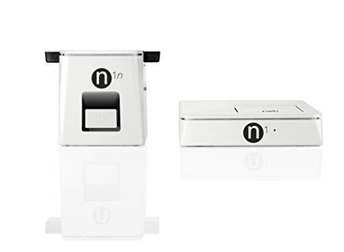 NELI - Diffuseur Tri-Tuners De TNT HD par CPL Duo N1 - Pour TV Compatible Dolby Digital Plus sur HDMI - Plus Besoin de Prise Antenne - Blanc